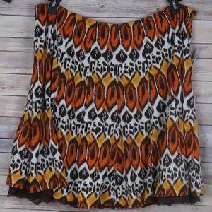 Urban Studio Tribal Print Skirt Plus Size 24w